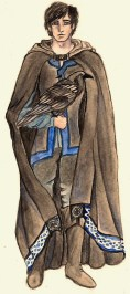 Morgan's mentor in The Windkeeper. Age: 35. Magic: Air, status Ravenstorm; and Seer. Tools of magic: pipe and visions.